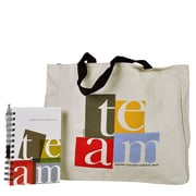 Baudville® Tote Bag With Journal And Pen, TEAM