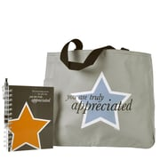 Baudville® Tote Bag With Journal And Pen, You Are Truly Appreciated