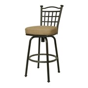 "Pastel Bay Point 30"" Outdoor Swivel Barstool, Taupe/Beige/Tan"