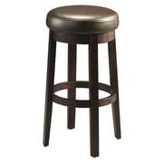"Pastel Ekatarina 30"" Leather Backless Barstool, Brown"