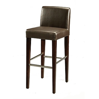 Pastel Equinoii 26in. Leather Counter Stool, Brown