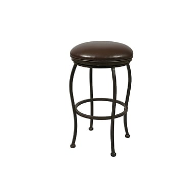 Pastel Island Falls 26in. Fabric Backless Counter Stool, Ford Brown