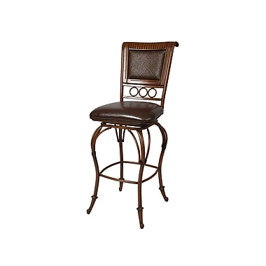 Pastel Rio Branco 26in. Padded Counter Stool, Brown