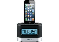 iHome® IPL10BC Dual Charging Stereo FM Clock Radio With Lightning Dock For iPhone/iPod, Black