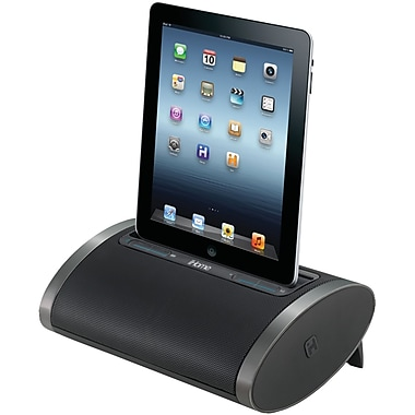 iHome® ID48BVC Portable Rechargeable Stereo System For iPad/iPhone/iPod, Black