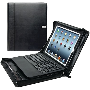 iLuv® Chairman Folio Jacket With Bluetooth Keyboard For iPad with Retina Display, Black