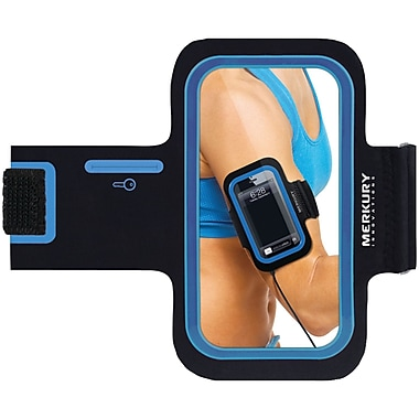 Merkury Motion Neoprene Armband For iPhone 5/iPhone 4/4S/iPod Touch 5G Motion, Blue