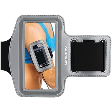 Merkury Active Neoprene Armband For iPhone 5/iPhone 4/4S/iPod Touch 5G Motion, Silver