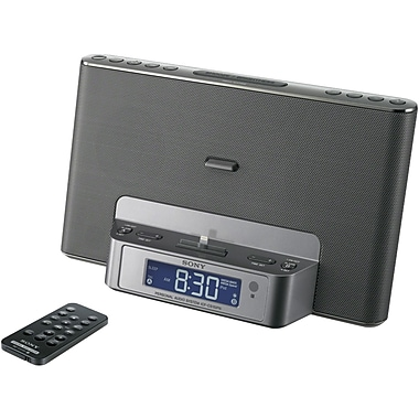 Sony® ICF-CS15IP Speaker Dock For iPod/iPhone, Silver