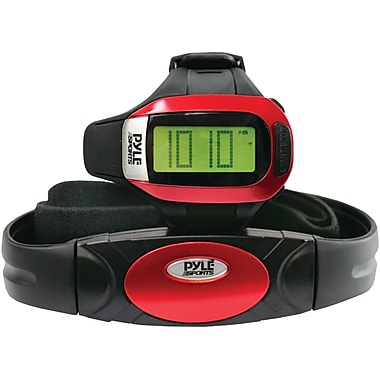 Pyle® Speed and Distance Heart Rate Watch With Jumbo Digits, USB, 3D Walking/Running Sensor