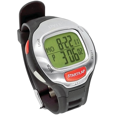 Pyle® Marathon Runner Mens Watch With Target Time Setting, Black
