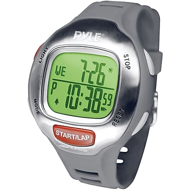 Pyle® Marathon Runner Mens Watch With Target Time Setting, Grey