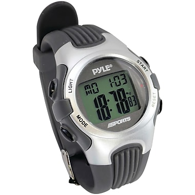 Pyle® Gymaster Fitness Multi Function Watch With Pacer, Silver