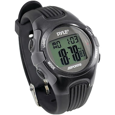 Pyle® Gymaster Fitness Multi Function Watch With Pacer, Black