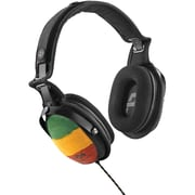 Marley™ Rise Up™ Over-Ear Headphones with 3-Button Microphone, Rasta