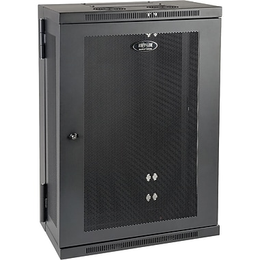 Tripp Lite SRW18US13 SmartRack Slim 18U Swinging Wall-Mount Rack Enclosure Cabinet