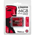 Kingston® Ultimate 266x 64GB CF (CompactFlash Type I) Flash Memory Card