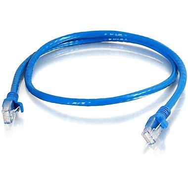 C2G® 10' RJ-45 Cat6 Snagless UTP Unshielded Network Patch Cable, Blue