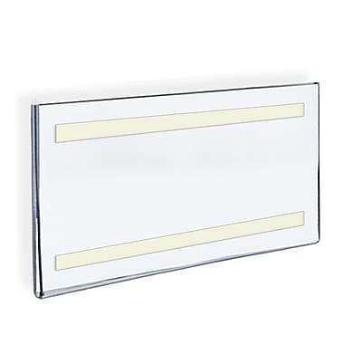 Azar Acrylic Horizontal Wall Mount Sign Holder with Adhesive Tape, 11