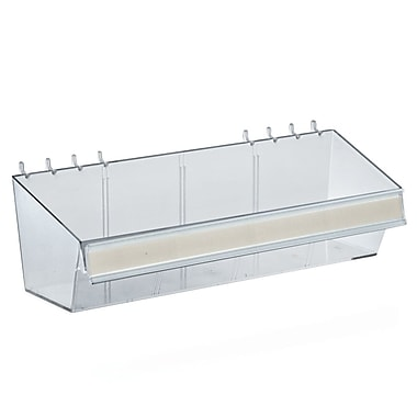 Azar Displays Acrylic Small Divider Bin, Clear