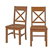Walker Edison Millwright Wood Dining Chair, Antique Brown