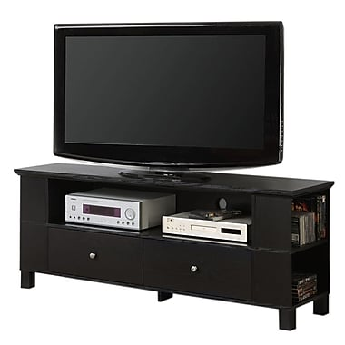 Walker Edison 60in. Wood TV Console With Multi-Purpose Storage, Black