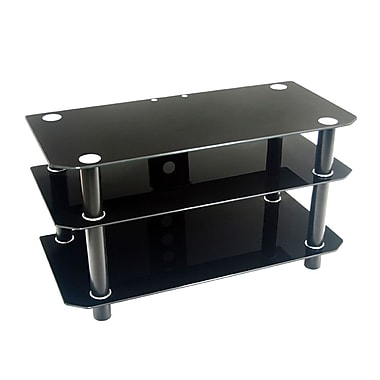 Walker Edison 42in. Glass TV Stand, Black