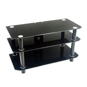 Walker Edison 42 Glass TV Stand, Black