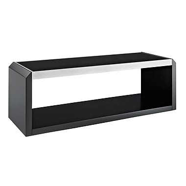 Walker Edison 60in. Glass and Wood TV Stand, Black