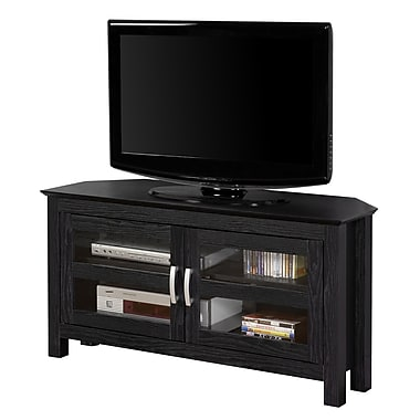 Walker Edison Cordoba 44in. MDF Corner TV Console, Black