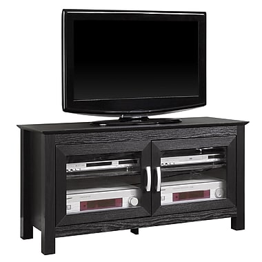 Walker Edison Coronado 44in. Wood TV Console, Black