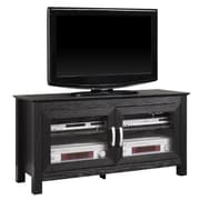 Walker Edison Coronado 44 Wood TV Console, Black