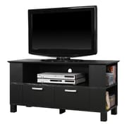 Walker Edison Columbus 44 Wood TV Console, Black