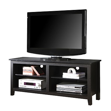Walker Edison 58in. Wood TV Stand, Black