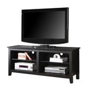 Walker Edison 58 Wood TV Stand, Black