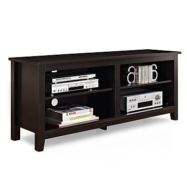Walker Edison 58in. Wood TV Console, Espresso