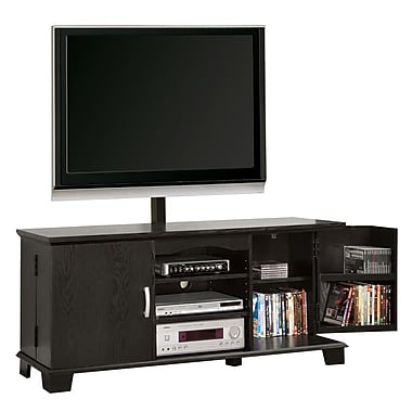 Walker Edison 60in. Wood TV Console With Mount, Black