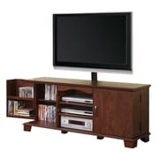 Walker Edison 60 Wood TV Console With Mount, Traditional Brown