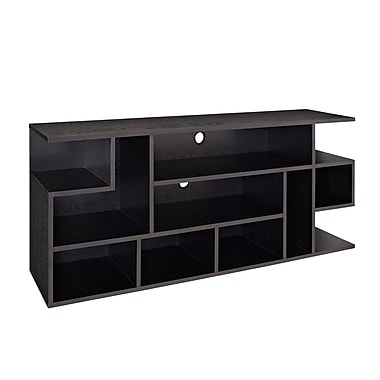 Walker Edison Mod Style 60in. Wood TV Console, Black