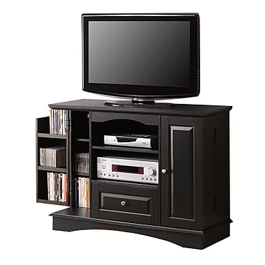 Walker Edison 42in. Laminate Bedroom TV Console, Black