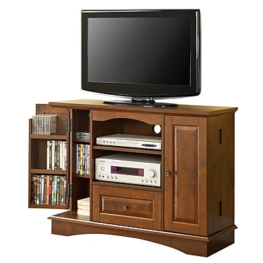Walker Edison 42in. Laminate Bedroom TV Console, Traditional Brown