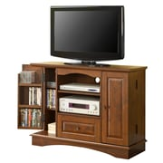 Walker Edison 42 Laminate Bedroom TV Console, Traditional Brown