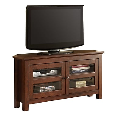 Walker Edison Cordoba 44in. MDF Corner TV Console, Brown