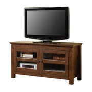 Walker Edison Coronado 44 Corner Wood TV Console, Traditional Brown