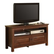 Walker Edison Cortez 44 Corner Wood TV Console, Traditional Brown