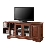 Walker Edison Wasatch 52 Wood TV Console, Traditional Brown