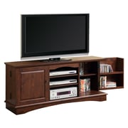 "Walker Edison 60"" Wood Storage TV Console, Traditional Brown"