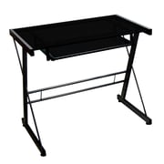 Walker Edison Glass Solo Computer Desk, Black (D31S29B)