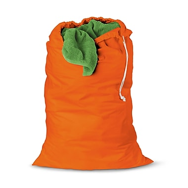 Honey Can Do® 36in. x 24in. Jersey Cotton Laundry Bag, Orange
