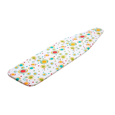 Honey Can Do® 15in. x 54in. Cotton Superior Replacement Ironing Boarding Cover, Colorful Dots